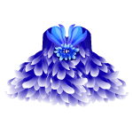 Blue Chrysanthemum Dress