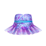 Violet Pleated Chiffon Dress