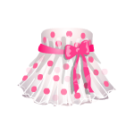 Pink polka dot spring dress