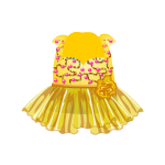 Yellow Embroidery and Chiffon Dress