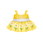 Yellow Dress with Daisy Print