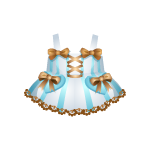 Light Blue Dress with Brown Bows