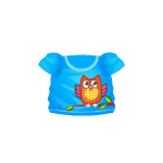 Blue T-Shirt with Patchwork Owl