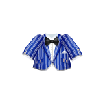 Striped Blue Jacket with Bow Tie