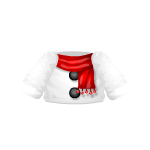 White Snowman Top with Red Scarf