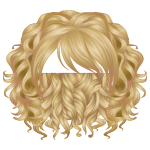 Curly Wig with Asymmetric Bangs