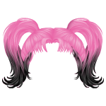 Two Toned Ponytails Wig