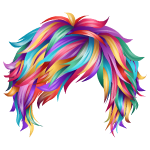 Short Multicolored Wig