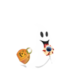 Animated Flying Ghost with Lollipop