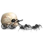 Banner Skull Carriage Driven by Rats