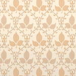 Beige Leaf Wallpaper
