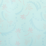 Pastel Blue Patterned Wallpaper