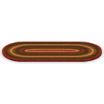 Red and Brown Braided Rug