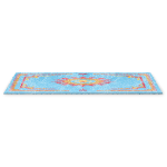 Blue Rug with Fantasy Flower