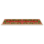 Poinsettia Pattern Carpet
