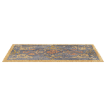 Gold and Blue Vintage Rug