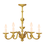 Brass Candle Bulbs Hanging Lamp