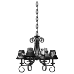 Black and White Bats Chandelier