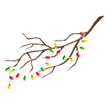 Branch with Lights Garland