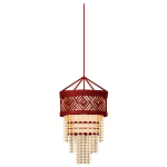 Chinese Red Wood Chandelier