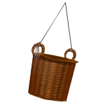 Habi - Empty Wicker Basket 1