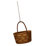 Habi - Empty Wicker Basket 2