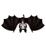 Animated Bat with Lollipop