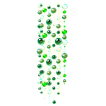 Emerald Beads Ceiling Decor