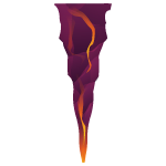 Rock Stalactite with Lava 2