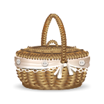 Banner Wicker Basket Choose Box with Baby Piglet