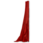 Crimson Gothic Curtain Left