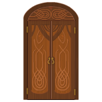Rivenville Carved Wooden Door