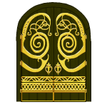 Golden Ornament Door