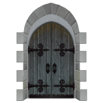 Gray Castle Wooden Door