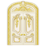 Cream and Gold Rococo Door