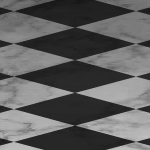 Gray Checkered Floor