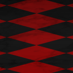 Red and Black Checkered Floor