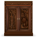 Royal Carved Wood Wardrobe