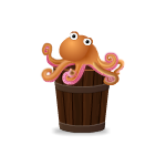 Animated Octopus on Bucket