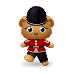 Royal Guard Blue Eyed Bear