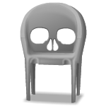 Gray Skull Modern Chair