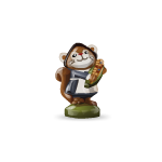 Pilgrim Girl Squirrel Figurine