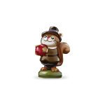 Pilgrim Boy Squirrel Figurine