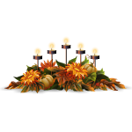 Five Candles Autumn Centerpiece