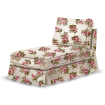 Pink Rose Print Chaise Lounge