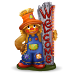 Welcome Scarecrow Boy Figurine