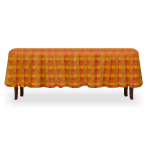 Dining Table with Fall Tablecloth