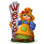 Welcome Scarecrow Girl Figurine
