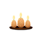 Three Pinecone Candles