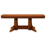 Solid Red Oak Dining Table